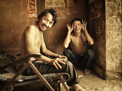Portrait of two friends (BenDem) Tags: life friends boy two portrait people male men smile asian fun kid funny asia cambodia cambodian child friendship adult brother poor young social phnompenh emotions phnom penh