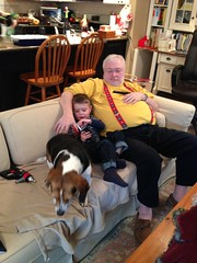 Couch with Dominic, Pop, and Buddy