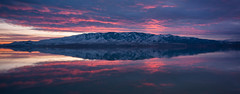 Lake Mountain Sunset***EXPLORE*** (Adam's Attempt (at a good photo)) Tags: pink blue sunset sky orange white lake snow reflection water clouds reflections utah nikon cloudy calm lakemountain utahlake pinkclouds utahcounty d90 americanfork lr4 americanforkut utahlakesunset americanforkboatharbor lakemountainsunset