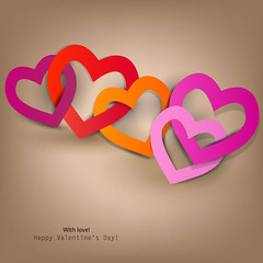 Happy Valentines Day Heart to Heart (vectorbackgrounds) Tags: holiday color classic beautiful beauty illustration advertising design day heart graphic background banner decoration creative celebration card backdrop curl deco greetingcard greeting congratulation happyvalentinesday