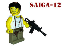 Saiga 12 (SpontaneousRaptor) Tags: call duty shotgun cod saiga brickarms saiga12