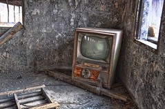 TV in an abandoned milking parlor (Forsaken Fotos) Tags: old abandoned decay forgotten uer