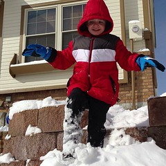 We got 7 inches of snow last night. #Malikai and I both got snow days. We tried to build a snow man but the snow was not sticky enough. / on Instagram http://instagr.am/p/WAfMnJsmh6/ (JonZenor) Tags: photos tumblr instagram