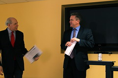 Chuck Conconi Introduces Bob Cusack at QU (QorvisPhotos) Tags: hill bob editor qu the cusack managing qorviscommunications