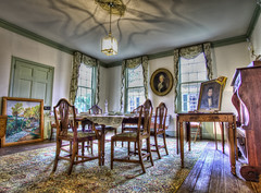 Slightly Cluttered Dining Room (NathanFirebaugh) Tags: school house high dynamic north carolina range hdr burwell promotecontrol