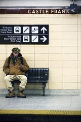 Castle Frank Man. (amandaBianca) Tags: toronto station subway candid ttc