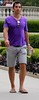 Man in Park (LarryJay99 ) Tags: park hairy chicago man sexy male men guy sunglasses walking purple arms legs masculine candid manly hunk guys dude flipflops shorts dudes stud hunks studs hairyarms virile braghettoni ilobsterit