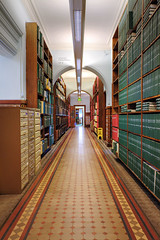 Meet Me in the Stacks (Non Paratus) Tags: uk england tile vanishingpoint yorkshire leeds victorian books westyorkshire canon5dmarkii canon5dii