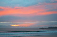 Supertubos, Peniche, Portugal (Vsevolod Vlasenko) Tags: ocean travel sunset sun sunlight lighthouse beach portugal clouds evening surf waves surfer wave surfing peniche
