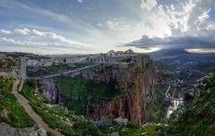 bridges, cliffs, sunset, constantine, algeria (mariusz kluzniak) Tags: auto africa old city bridge sunset cliff mountain clouds lens algeria town view angle stitch sony hill north wide sigma super historic constantine arab alpha 1020mm northern 77 slt lenses a77