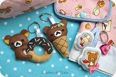 Rilakkuma (Casinha de Pano) Tags: handmade felt feltro chaveiro rilakkuma portaabsorvente panodeprato tecidoimportado fabricjapanese