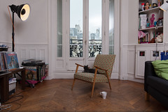 Watching snow falling... (Bourguiboeuf) Tags: pet paris france color cat canon french design living chat flat room ii 5d salon dslr appartement ef couleur mk hausmann 1635l leopoldine bestofr bourguiboeuf
