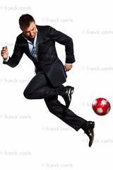 one business man playing juggling soccer ball (Franck Camhi) Tags: people white playing man male sports businessman ball cutout person one 1 football energy dynamic background soccer fulllength style player business suit whitebackground mature studioshot juggling juggle elegant executive isolated soccerball oneperson stylish elegance caucasian oneman 40years dribbling vitality soccerplayer