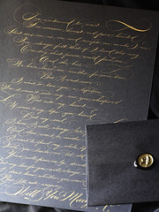 IMG_3460 (Open Ink Stand) Tags: black classic gold seal wax calligraphy sealing dipnib