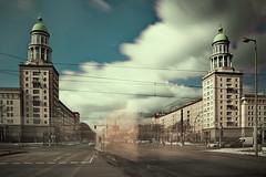 Frankfurter Tor#4 (sterreich_ungern) Tags: winter berlin architecture clouds germany concrete crossing traffic cloudy east ddr tor platte osten gdr beton frankfurter zuckerbcker stalinism magistrale exousure nd1100