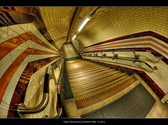 33.2013 - London's Tube (Pawel Tomaszewicz) Tags: city bridge sunset sky london tower lamp colors station night clouds stairs sunrise river underground landscape lights stair long exposure cityscape post metro tube case capitol scape tunel dri hdr hdri londyn rzeka chmury stolica tamiza stacja thamese