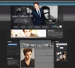 Layout Robert Pattinson ( Venda) (Essence Layouts) Tags: robert layout fansite pattinson