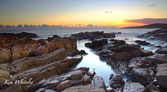 Boat Harbour (Kimmy Whiteley) Tags: sunset water canon rocks portstephens 600d boatharbour