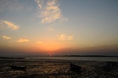 Il sole se ne va (supersky77) Tags: ocean sunset sea sun rio guinea tramonto mare sole oceano riu guineabissau cacine guinbissau guin riucacine pwpartlycloudy