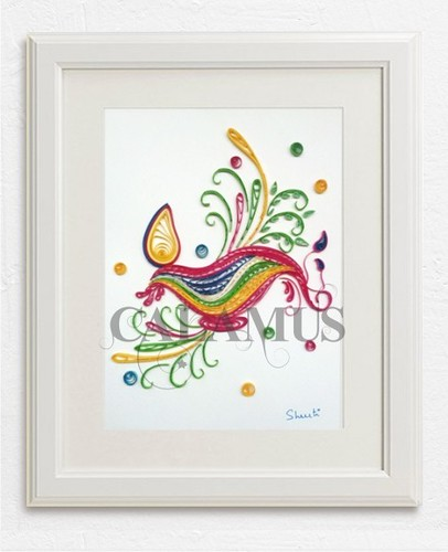 paper quilling wall frame - a photo on Flickriver