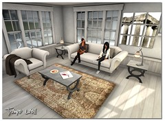 BLOGGED FaMESHed (Nicolette du Jour) Tags: house art home post mesh furniture livingroom sl secondlife interiordesign trompeloeil cedo lp2 prims nodari coryedo lowprim kawaiinicole landimpact fameshed