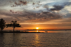 Summer sunset at the point (wiltsepix) Tags: lake canon point mark michigan detroit ii 5d higgins 1740mm
