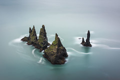 Reynisdrangar (esslingerphoto.com (Off to Seattle)) Tags: reynisdrangar seascape seastacks sea iceland icelandic island longexposure blue islands southcoast vik