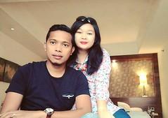 #love #couple #selfie #aryaduta #medan #medaninlove #holiday #latepost (ArisaNishimuraya) Tags: instagramapp square squareformat iphoneography uploaded:by=instagram skyline