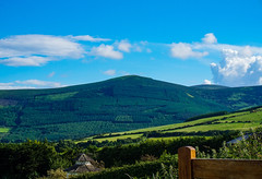 Wicklow Mts on a sunny afternoon (ronamkelly) Tags: green ireland countrywide countryside wicklow mountains hills pagoda garden cloudy sky clouds beauty nature beautiful trees foliage hillside