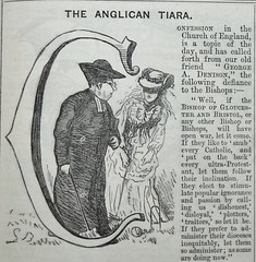 The Anglican Tiara! -  Punch 1873 (AndyBrii) Tags: punch 1973 wit satire woodcuts engravings