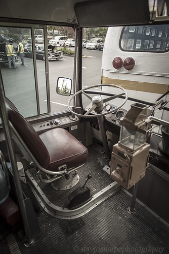Vintage Bus Drivers Seat