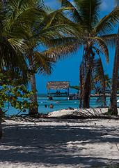 PigeonPt2Aug2016 (Sazia3) Tags: tobago tropicalcoastline tropical caribbean coconuttrees beach beachatsunset caribbeansea sunset pigeonpoint pigeonpointbeach hut thatchhut