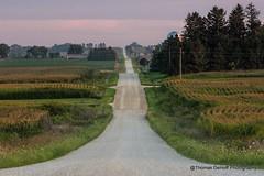 Rural Iowa road (Thomas DeHoff) Tags: iowa rural gravel road corn sony a700 vanishing point