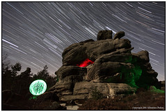ST#32-52 The Rock (seb a.k.a. panq) Tags: night 52 52weeks st startrails nightscape light painting lp