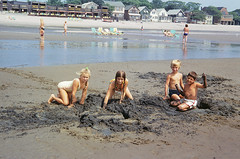 The younger beach crew. Left to right: My blond cousin from Los Angeles, my sister with braids, another blond cousin from LA and the kid brother of a friend of mine. Digging sand cities with the Surf Club in the backgroud. Milford Connecticut. July 1973 (wavz13) Tags: longislandsound connecticutshoreline beach swimming summer summermemories oldphotographs oldphotos 1970sphotographs 1970sphotos oldphotography 1970sphotography vintagesnapshots oldsnapshots vintagephotographs vintagephotos vintagephotography filmphotos filmphotography connecticutbeaches milfordbeaches kodachrome oldslides vintageslides familyslides vintagekodachrome oldkodachrome oldfamilyslides oldfamilyphotos vintagefamilyphotos oldfamilyphotography vintagefamilyphotography vintage35mm old35mm memories vintage vintagekids vintagechildren vintageteens vintageteenagers teenmemories teenagememories vintageteengirls vintageteenagegirls female longhair vintageteenboys vintageteenageboys beachphotography beachphotos oldbeachphotography vintagebeachphotography sandcastles lowtide