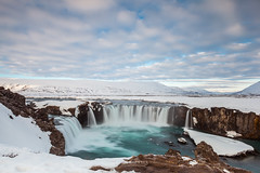 Godafoss fall in the morning, Iceland (Kanonsky) Tags: attraction beautiful cascade cliff cloud cold europe famous flowing godafoss iceland landmark landscape morning nature outdoors powerful river sky spring stream sunshine travel waterfall winter