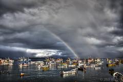 Arco Iris en Caleta Tumbes (JMFREDES) Tags: caletatumbes tumbes caleta chile arcoiris rainbow storm cloud talcahuano botes boats