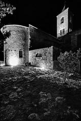 Castel Trosino - Scorcio 05 (Promix The One) Tags: casteltrosinoap marche scorcio chiesa campanile campana mattoni antichit medioevale muri prato pianta notturno biancoenero bn bw canoneos1dsmarkii sigma1530f3545exdgaspherical