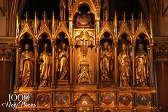 Votivkirche Gold (Laura K Bellamy) Tags: vienna gothic architecture austria europeanchurches votivkirche travel cathedrals