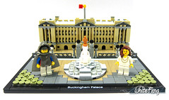 WhiteFang and Belun visiting the Buckingham Palace (WhiteFang (Eurobricks)) Tags: lego architecture set landmark country buckingham palace victoria elizabeth royal royalty family crown jewel imperial statue tourist united kingdom uk micro bus taxi