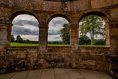 A view from Berrington Hall (21mapple) Tags: berringtonhall nationaltrust nt stately home house view garden windows window old historic history trees tree grass green fields clouds cloudy outdoors outdoor outside bricks stones hdr