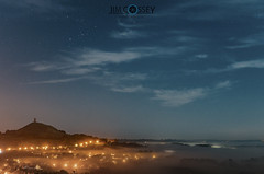 Glastonbury Tor under the moonlight and above the mist. (JimCosseyPhotography) Tags: glastonbury tor moonlight mist somerset 2016 autumn september mft lumix panasonic 25mm 17 clouds stars astrophotography england landscapes levels fog misty longexposure jimcosseyphotography microthourthirds lumixlounge sky night moon