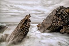 Troubled waters. (darklogan1) Tags: portugal cascais sea rocks seascape waves clouds logan darlogan1