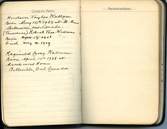 Diary of Robert Wallace p.05 (Community Archives of Belleville & Hastings County) Tags: 1880s 1890s 1900s 1910s 1920s diaries homechildren