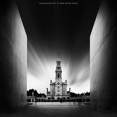 Places of Faith 3 (Jos Carlos Costa) Tags: longexposure portugal bw sanctuary ftima church