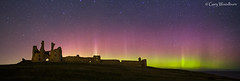 Night Light - Aurora Borealis, Dunstanburgh Castle, Northumberland (Gary Woodburn) Tags: dunstanburgh castle northern lights aurora borealis northumberland stars starry night sky pink green ruins historic building canpn 6d samyang 24mm