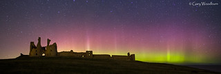 Night Light - Aurora Borealis, Dunstanburgh Castle, Northumberland