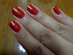 Coque da Risqué + Glitter forte vermelho da Hits (Camies.) Tags: nailpolish risque rednails risqué esmalte
