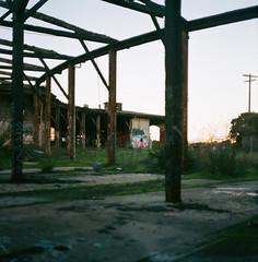 (john daniel reiss) Tags: sf ca city abandoned 120 6x6 film graffiti south medium format pentacon 2012 roundhouse ektar sixtl