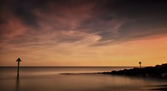 Chasing a Dream (Lindi m) Tags: longexposure sunset seascape water felixstowe ringexcellence dblringexcellence